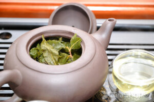Заваренный чайный лист