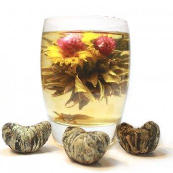 Связанный чай с цветками